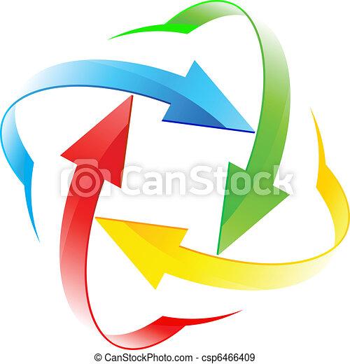 cercles, ensemble, flèche - csp6466409