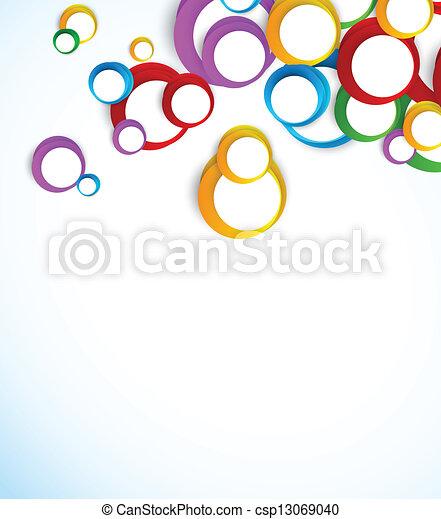 cercles, fond, coloré - csp13069040