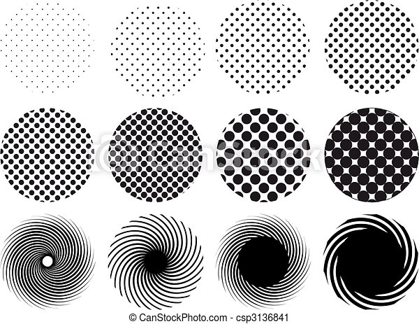 cercles, halftone - csp3136841