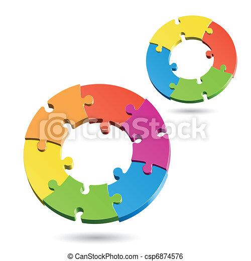 cercles, puzzle, puzzle - csp6874576