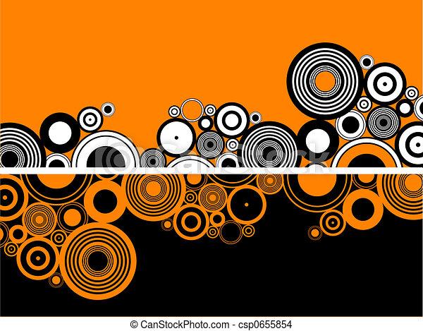 cercles, retro - csp0655854