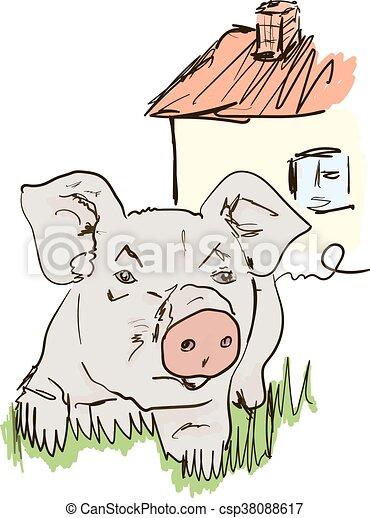 Cerdo - csp38088617
