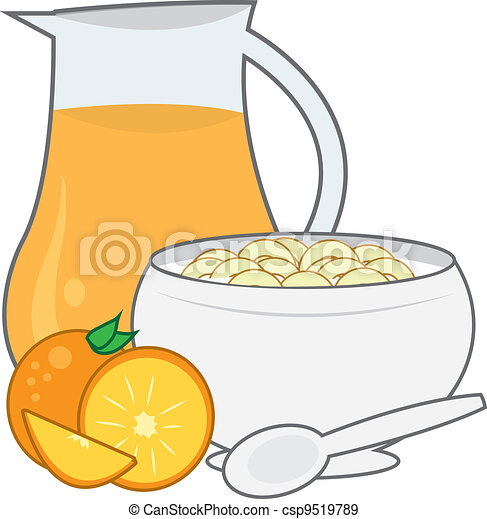Cereal and Juice  - csp9519789