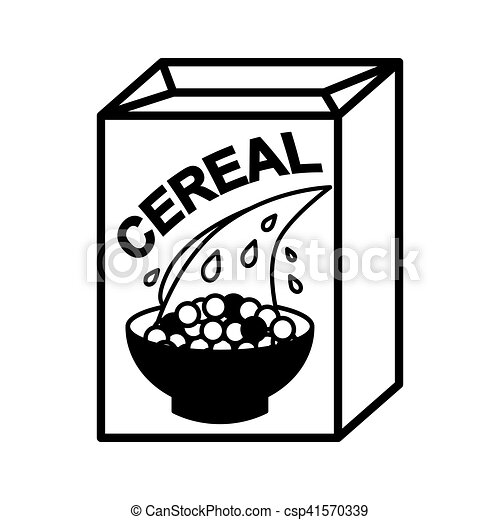cereal box and bowl illustration isolated on white vectors rh canstockphoto com Cookie Box Clip Art cereal box clipart