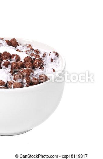 Cereal breakfast for kids. - csp18119317