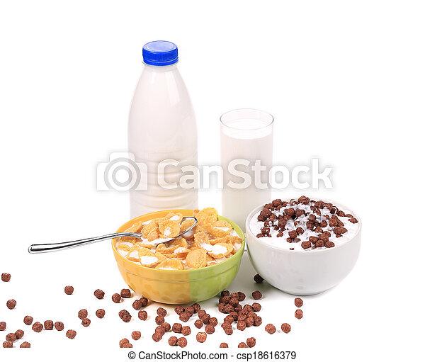 Cereal breakfast for kids. - csp18616379