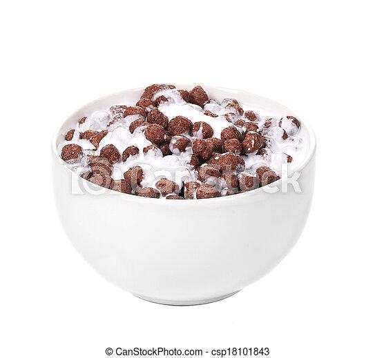 Cereal breakfast for kids. - csp18101843