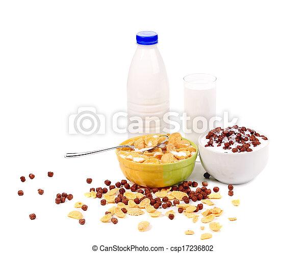 Cereal breakfast for kids. - csp17236802