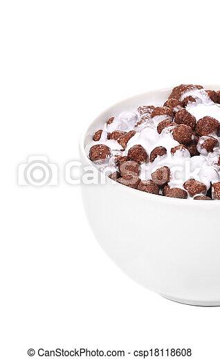 Cereal breakfast for kids. - csp18118608