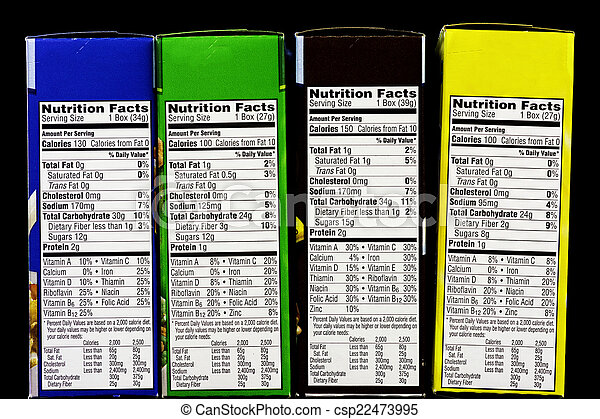 Cereal Nutritional Facts Label Boxes Of Cereal And Health