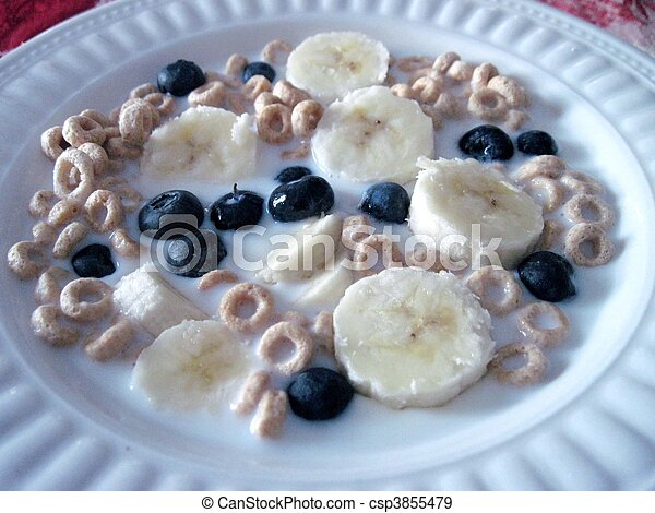 Cereal with fruit - csp3855479