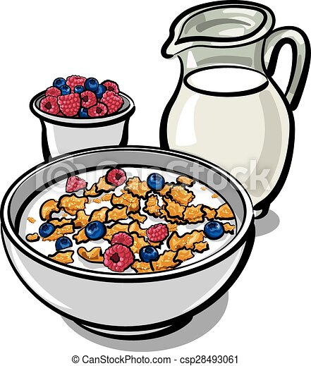 cereals and milk healthy breakfast with cereal and milk clip art rh canstockphoto com cereal clipart black and white cereal clipart black and white