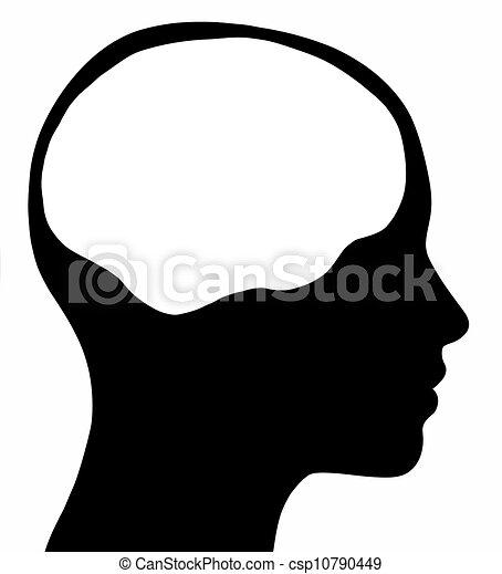 La cabeza de una mujer con cerebro - csp10790449