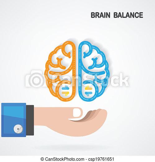 El concepto de equilibrio cerebral - csp19761651