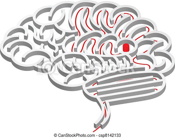 Concepto de laberinto cerebral - csp8142133