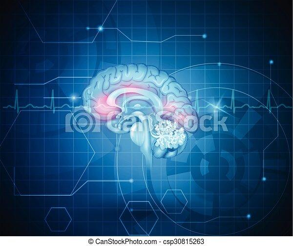 El concepto de tratamiento cerebral humano - csp30815263
