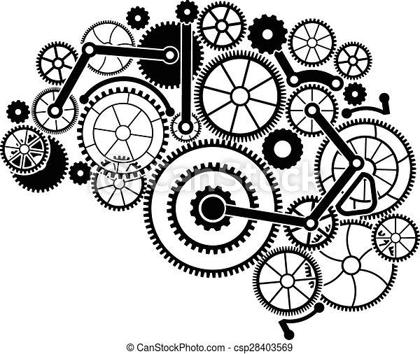 Cerebro de engranaje - csp28403569