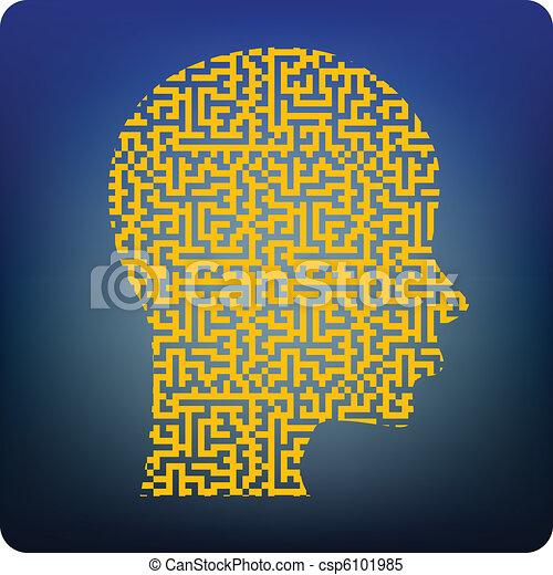 Maze cerebral - csp6101985