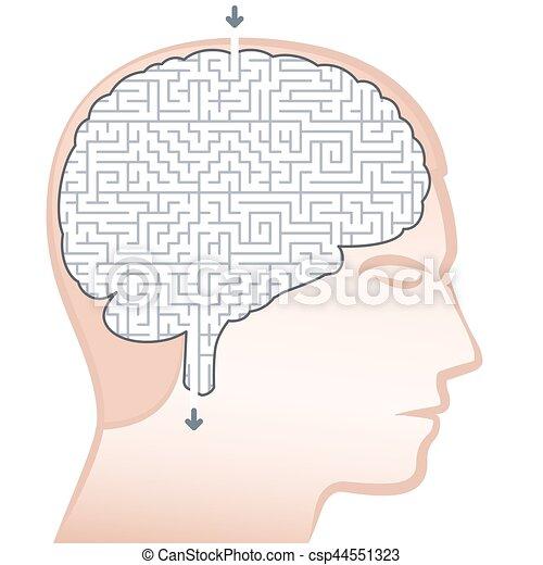 Laberinto cerebral - csp44551323
