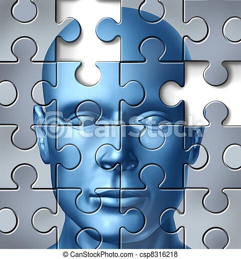 cerebro, médico, humano, investigación - csp8316218