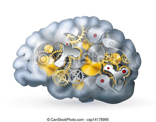 Cerebro mecánico - csp14178995