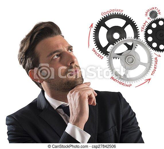 Mecanismos cerebrales de negocios - csp27842506