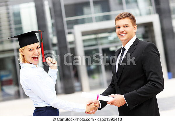 ceremonia, student, skala - csp21392410