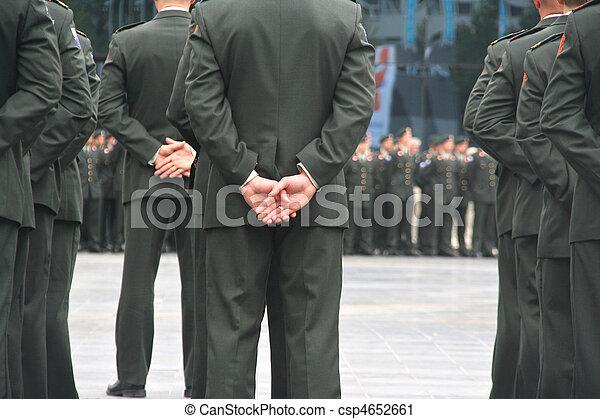 ceremonia, wojskowy - csp4652661