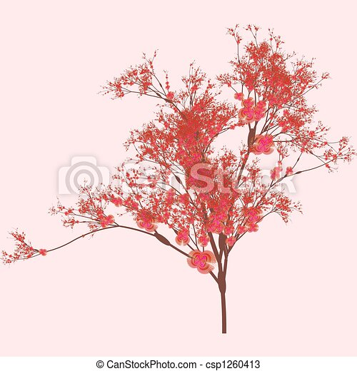cerise art arbre rose style art cerisier dessins rechercher clipart illustrations. Black Bedroom Furniture Sets. Home Design Ideas