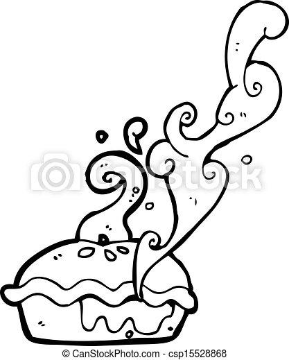 cerise, chaud, tarte, dessin animé - csp15528868