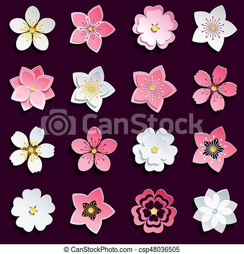 Cerise Fleurs Ensemble Sakura Fleur Beau Ete Ensemble