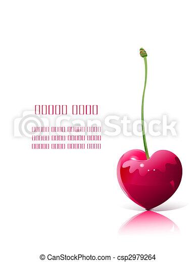 cerise, forme coeur - csp2979264