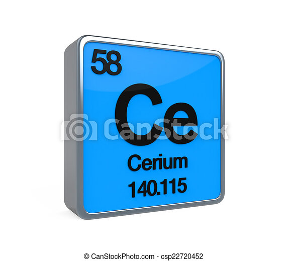 Cerium element periodic table isolated on white background stock cerium element periodic table csp22720452 urtaz Image collections