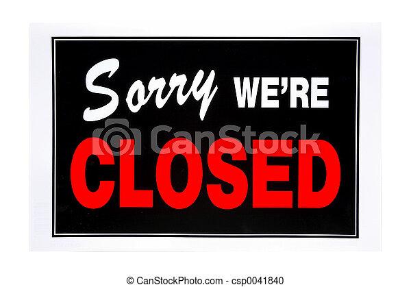 Señal cerrada - csp0041840