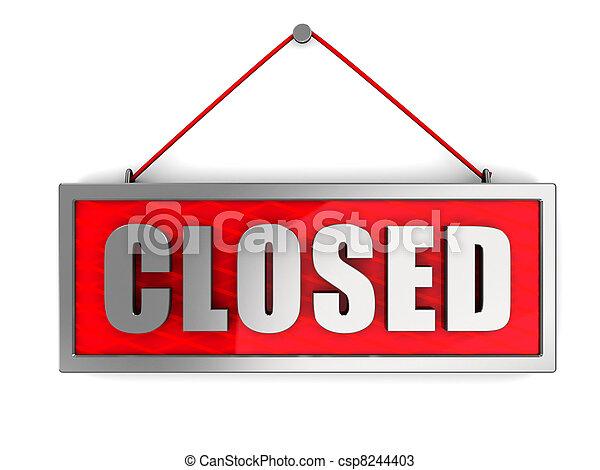 Signo cerrado - csp8244403
