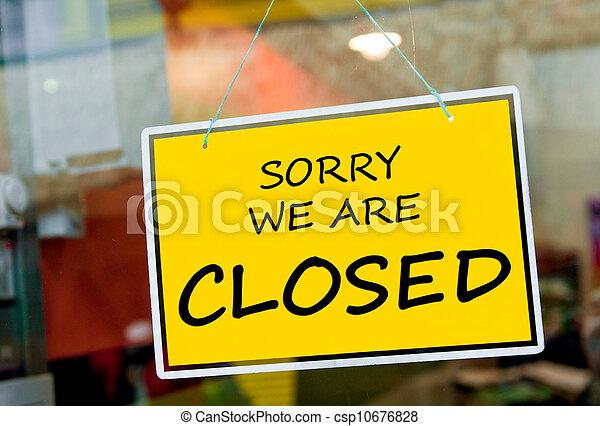 Signo cerrado - csp10676828