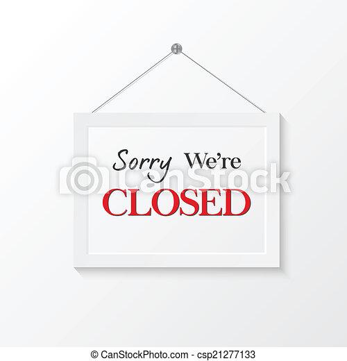 Ilustración de signos cerrados - csp21277133