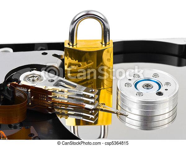 Computadora a toda velocidad - csp5364815