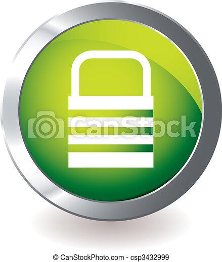 Cerradura de icono verde - csp3432999