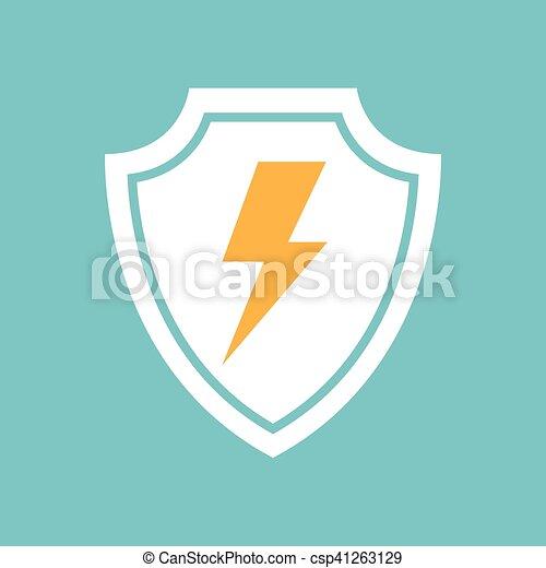 Un icono relámpago - csp41263129