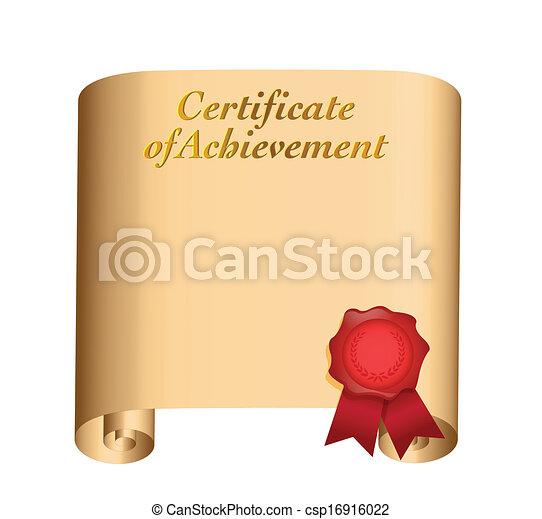 certificado, desenho, realização, ilustração - csp16916022