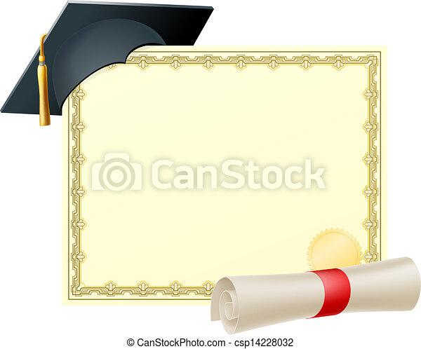 certificado, fundo, graduado - csp14228032