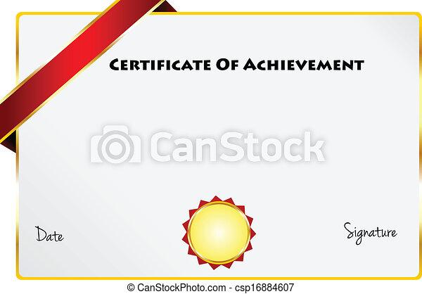 certificado, realização, diploma - csp16884607