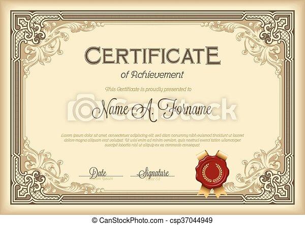 certificado, realização - csp37044949