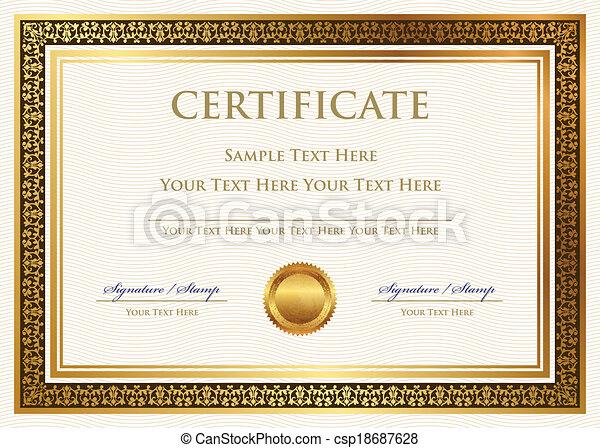 certificat, accomplissement - csp18687628