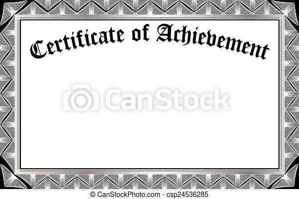 certificat, accomplissement - csp24536285