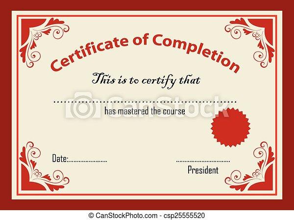 certificat, gabarit - csp25555520