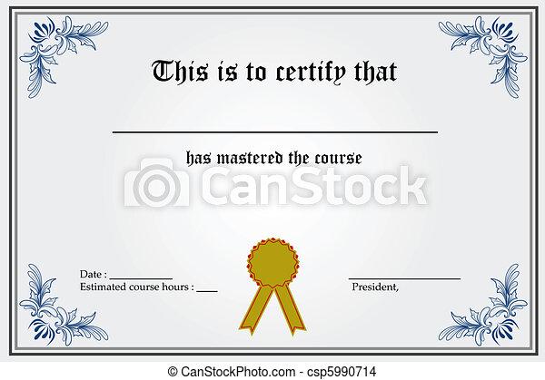 certificat, gabarit - csp5990714