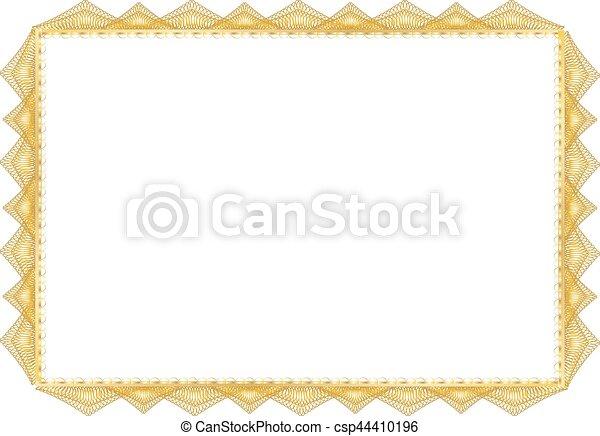 Certificate Blank - csp44410196