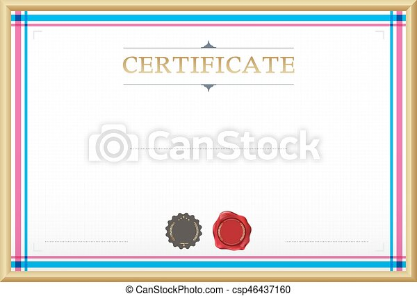 Certificate border certificate template vector clip art certificate border certificate template vector illustration yadclub Choice Image